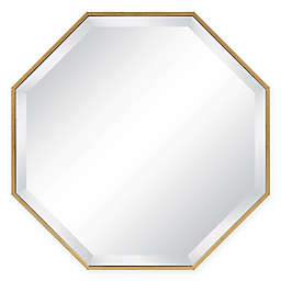 Kate and Laurel Rhodes Octagon 25-Inch Wall Mirror in Gold