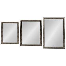 Kate and Laurel Harlen Wall Mirror in Silver/Black