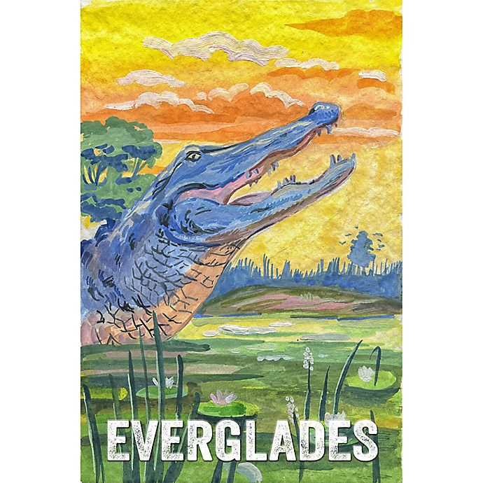 Alternate image 1 for Marmont Hill Everglades Poster II 20-Inch x 30-Inch Canvas Wall Art