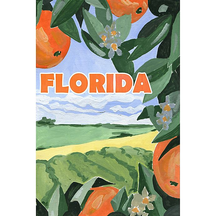 Alternate image 1 for Marmont Hill Somewhere in Florida 20-Inch x 30-Inch Canvas Wall Art