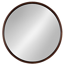 Kate and Laurel Hutton 30-Inch Round Wall Mirror