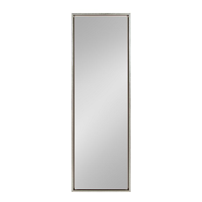 Alternate image 1 for Kate and Laurel Evans 18-Inch x 58-Inch Floor Mirror in Silver