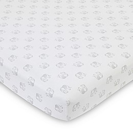 NoJo® Serendipity Mix and Match Elephant Fitted Crib Sheet in Grey