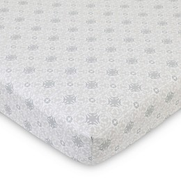 NoJo® Serendipity Mix and Match Medalliion Fitted Crib Sheet in Taupe