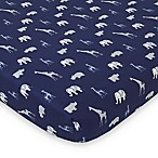 NoJo® Serendipity Mix and Match Animal Fitted Crib Sheet in Navy