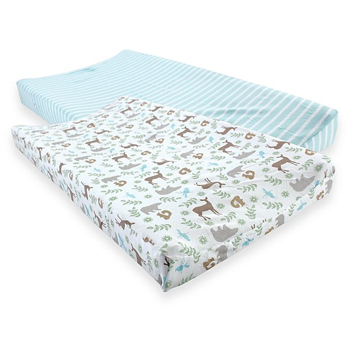 Alternate image 1 for Touched by Nature® Organic Cotton Changing Pad Covers (Set of 2)