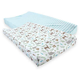 Touched by Nature® Organic Cotton Changing Pad Covers (Set of 2)