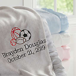 All Star Sports Embroidered Baby Blanket