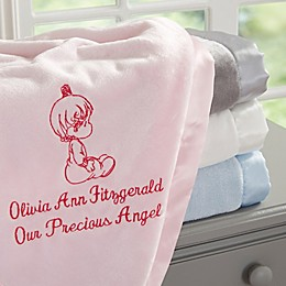 Precious Moments® Embroidered Blanket