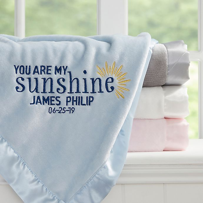 Alternate image 1 for You Are My Sunshine Embroidered Baby Blanket