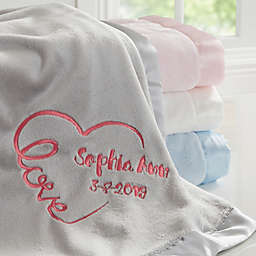 Baby Love Embroidered Keepsake Blanket
