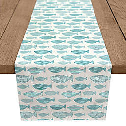 Designs Direct School of Fish Table Runner in Teal