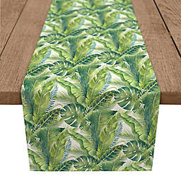 Designs Direct Palm 90-Inch Table Runner in Green