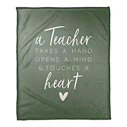 A Teacher Takes A Hand 50x60 Throw Blanket
