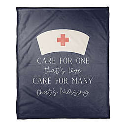 Care For Many That's Nursing 50x60 Throw Blanket