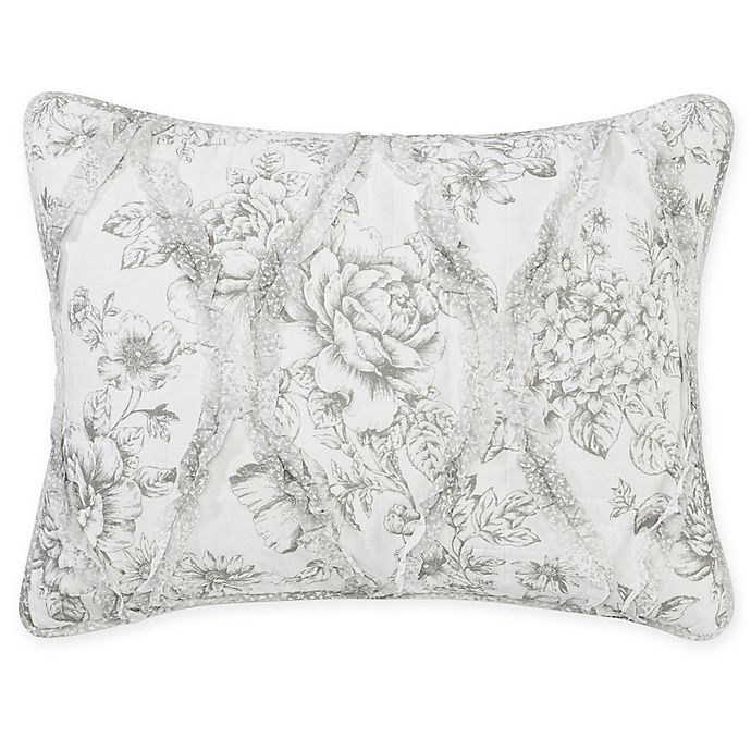 Buy Laura Ashley 174 Lena Standard Pillow Sham In Grey From