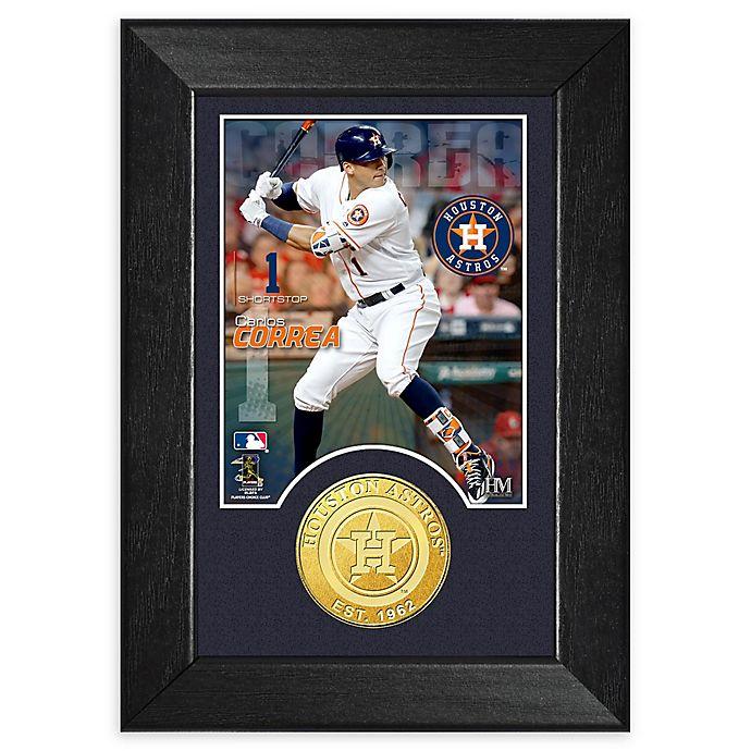 Alternate image 1 for MLB Carlos Correa Bronze Coin Mini Photo Mint