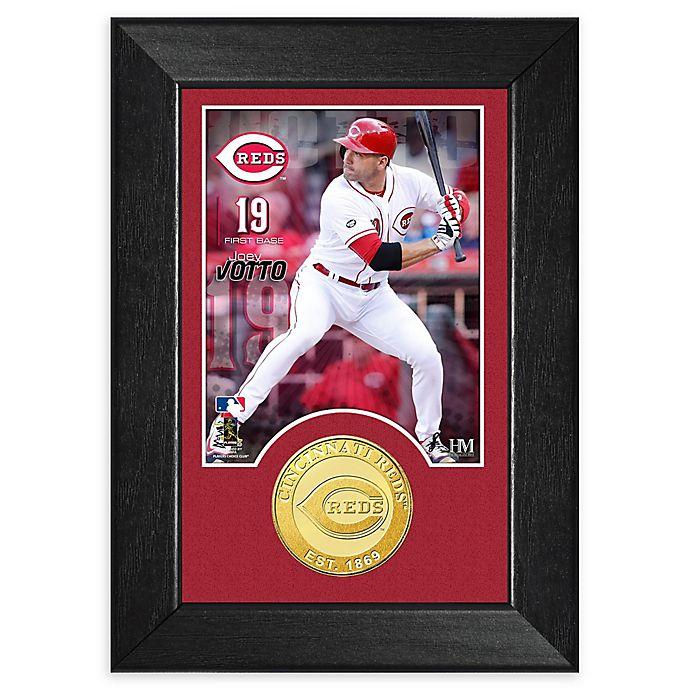 Alternate image 1 for MLB Joey Votto Bronze Coin Mini Photo Mint