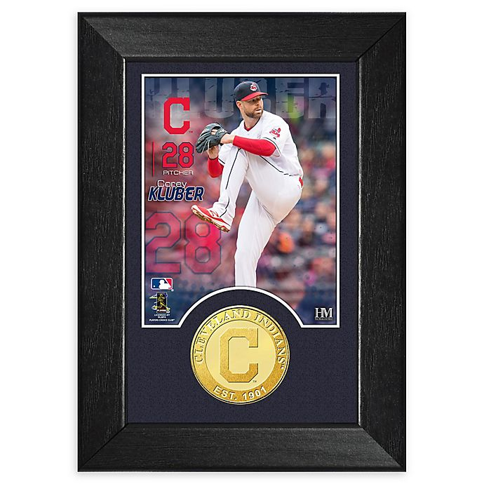 Alternate image 1 for MLB Corey Kluber Bronze Coin Mini Photo Mint