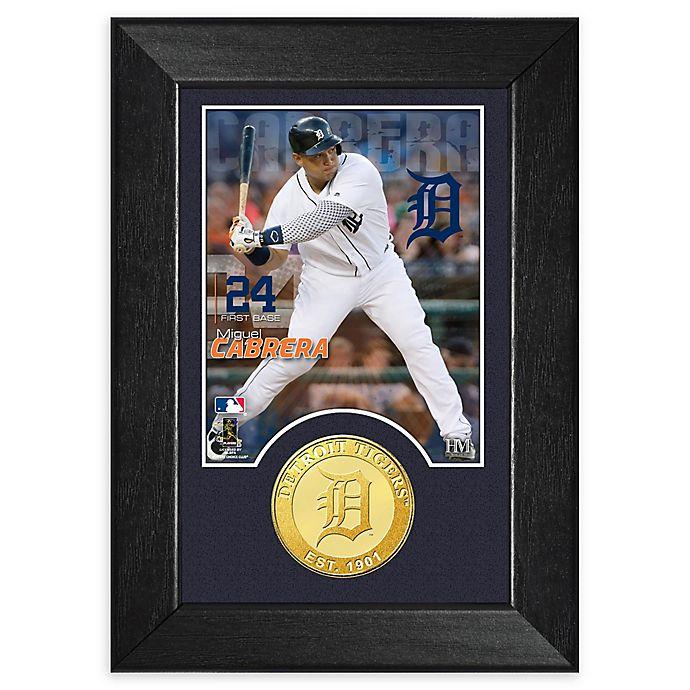 Alternate image 1 for MLB Miguel Cabrera Bronze Coin Mini Photo Mint