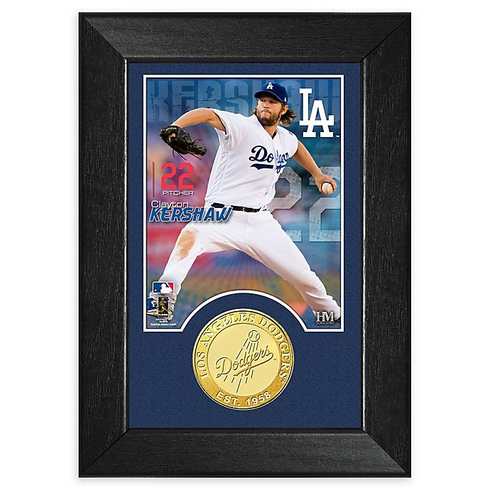 Alternate image 1 for MLB Clayton Kershaw Bronze Coin M-Series Photo Mint