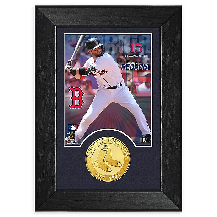 Alternate image 1 for MLB Dustin Pedroia Bronze Coin M-Series Photo Mint