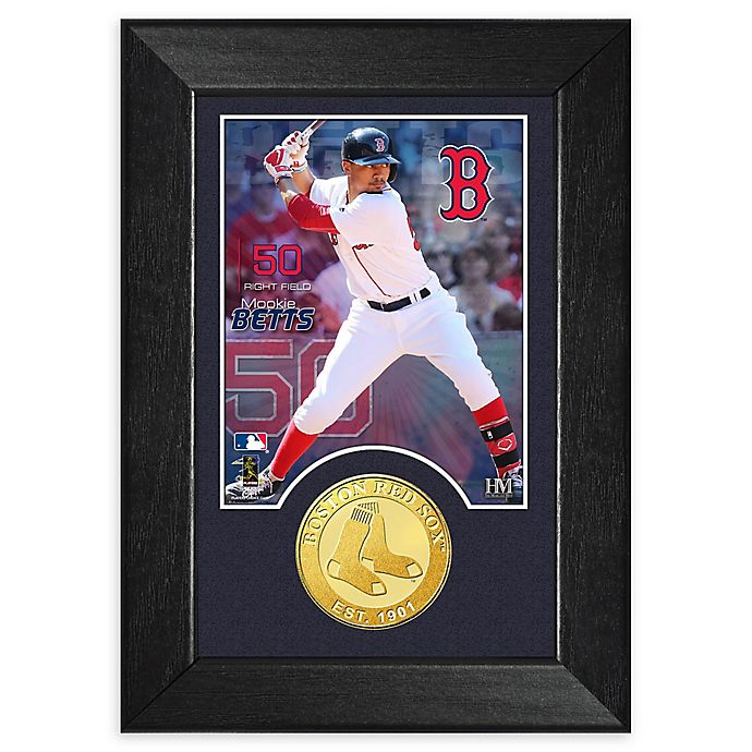 Alternate image 1 for MLB Mookie Betts Bronze Coin M-Series Photo Mint