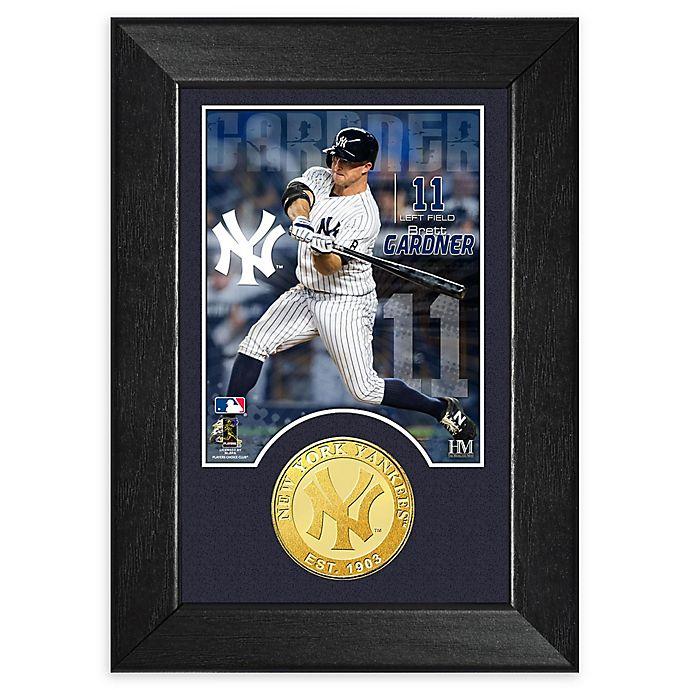 Alternate image 1 for MLB Brett Gardner Bronze Coin M-Series Photo Mint