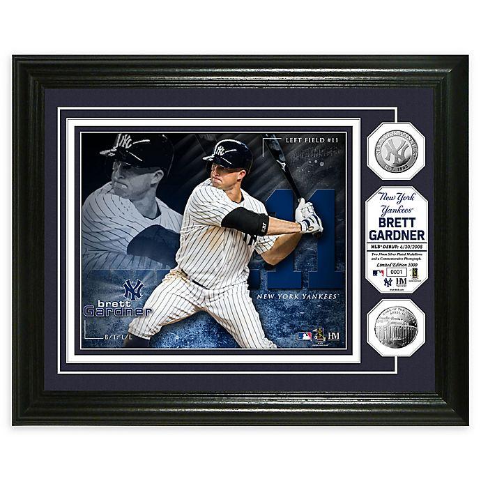 Alternate image 1 for MLB Brett Gardner Bronze Coin Photo Mint