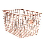 Spectrum Small Metal Storage Basket in Copper
