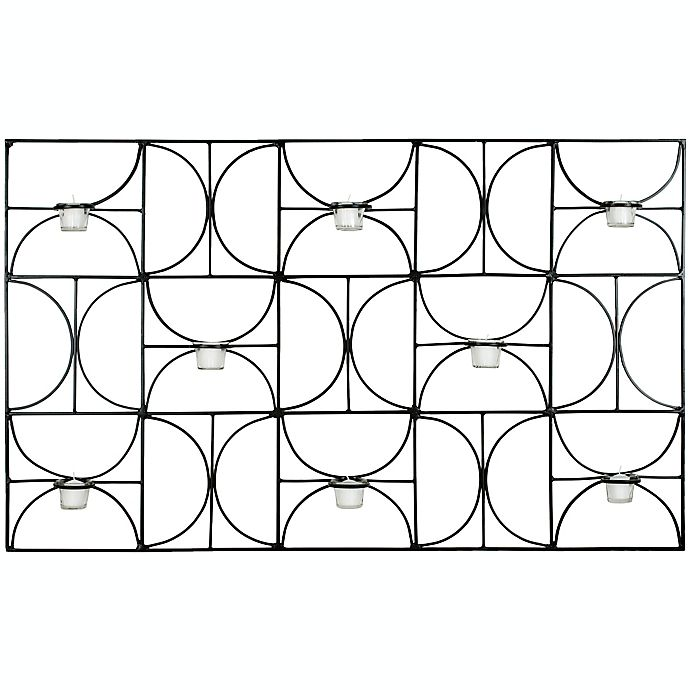 Alternate image 1 for Safavieh Geometric Wall Sconce Tea Light Candle Holder in Black