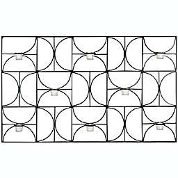 Safavieh Geometric Wall Sconce Tea Light Candle Holder in Black