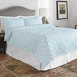 Pointehaven Clouds Twin/Twin XL Quilt Set in Teal/White