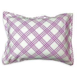 American Colors Emily Madison Plaid Boudoir Pillow Sham in Pink/Purple