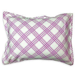 American Colors Emily Madison Plaid Standard Pillow Sham in Pink/Purple