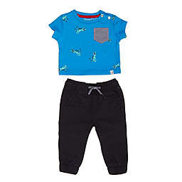 Sovereign Code® Size 3M 2-Piece Berman Tee and Pant Set in Blue/Black