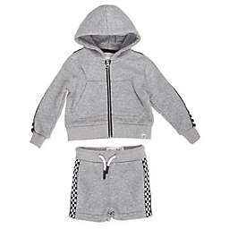 Sovereign Code® Size 3M 2-Piece King Hoodie and Short Set in Heather Grey