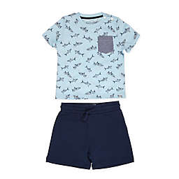 Sovereign Code® Size 24M 2-Piece Alburn Tee and Short Set in Blue/Navy