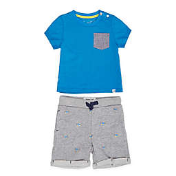 Sovereign Code® Size 24M 2-Piece Adriel Tee and Short Set in Blue/Grey