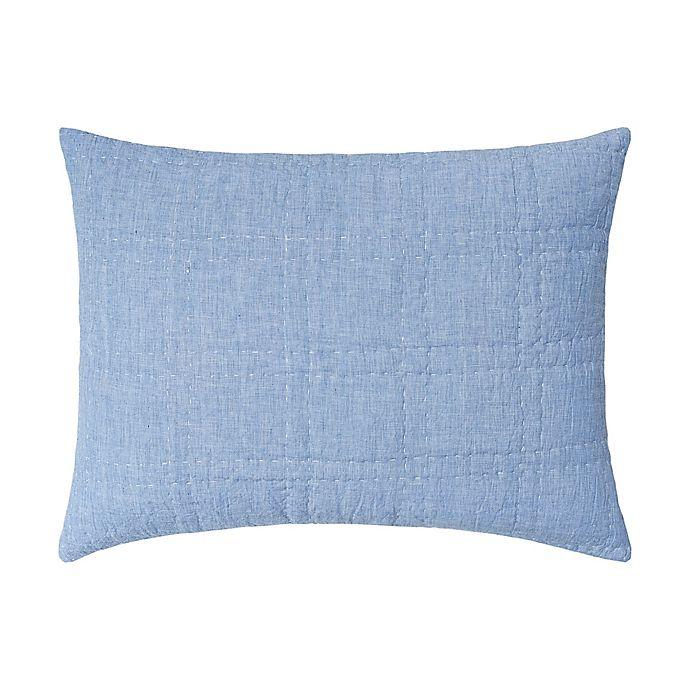 Alternate image 1 for Carol & Frank Hugh Standard Pillow Sham in Blue