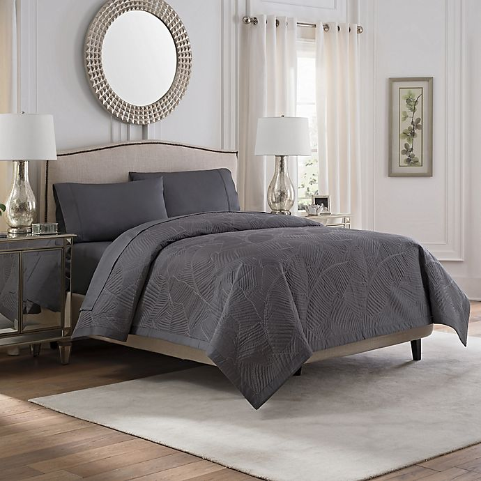 Alternate image 1 for Valeron Caruso King Coverlet in Charcoal