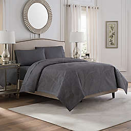 Valeron Caruso Full/Queen Coverlet in Charcoal