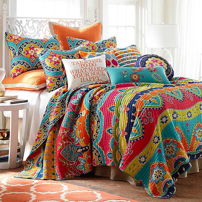 Alternate image 1 for Levtex Home Elaine Reversible Quilt Set Collection