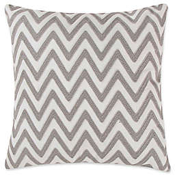 Levtex Home Robin Chevron Square Throw Pillow in Grey/White