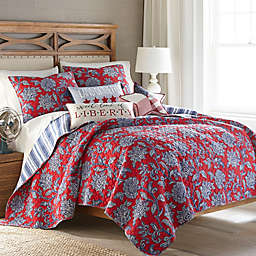 Levtex Home Meridian Hill 3-Piece Reversible King Quilt Set Red/Blue