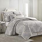 Charisma Edienne Medallion King Comforter Set in Grey/Silver