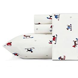 Eddie Bauer® Ski Patrol Flannel Sheet Set