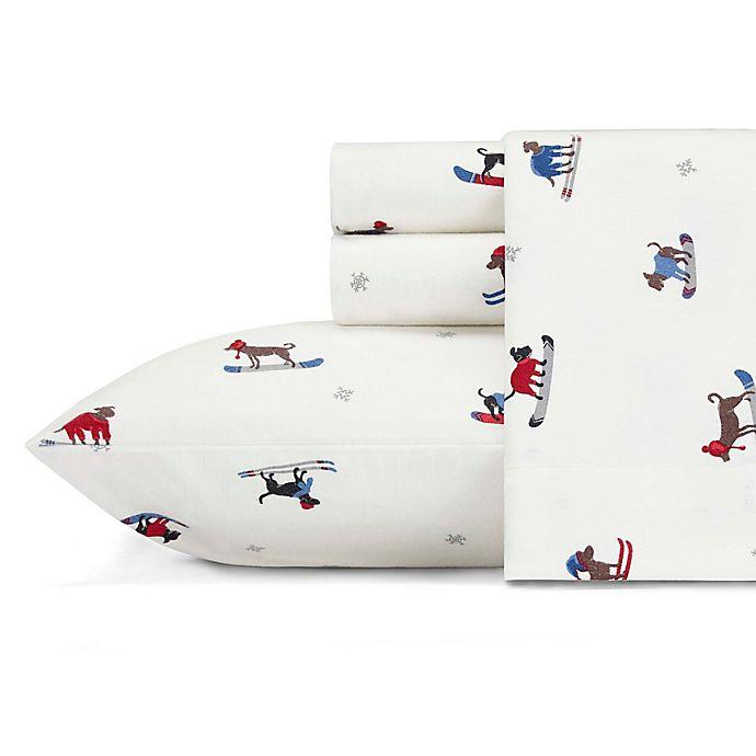 Alternate image 1 for Eddie Bauer® Ski Patrol Flannel Queen Sheet Set