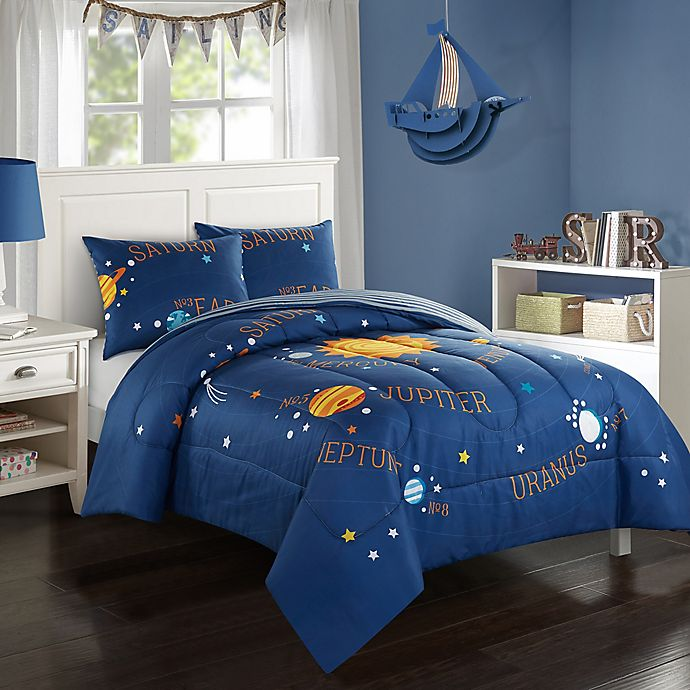American Kids Solar System Reversible Comforter Set Bed