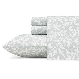 Laura Ashley® Crestwood Flannel Sheet Set in Grey
